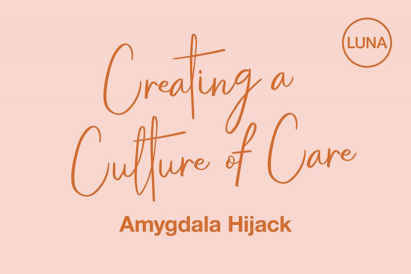 Creating a Culture of Care: Amygdala Hijack